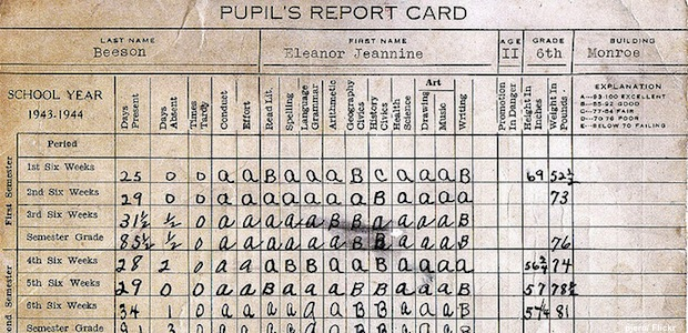 how to change a report card grade